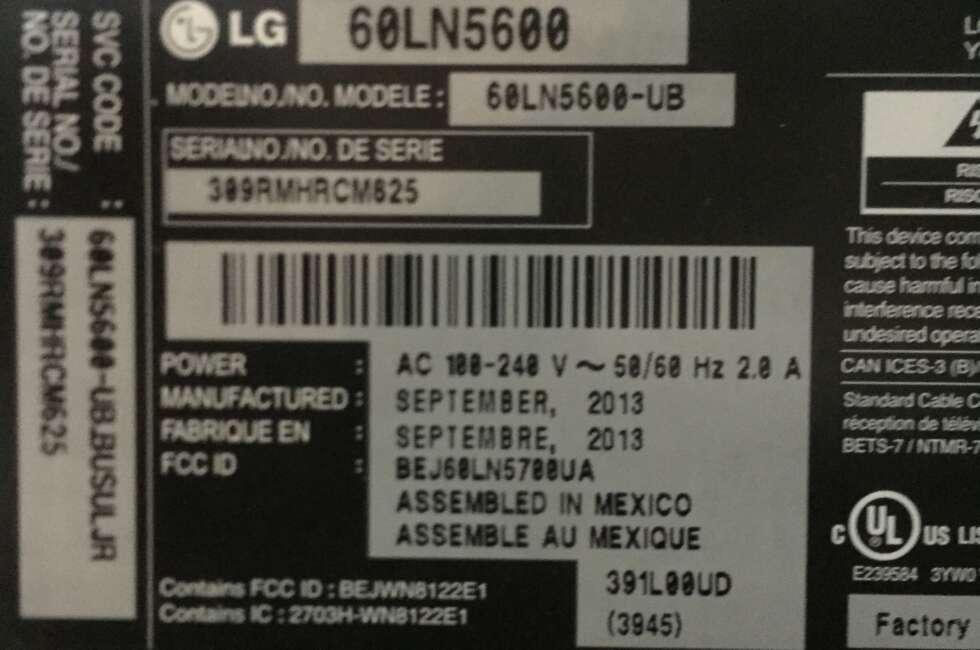LG 60LN5600-ub