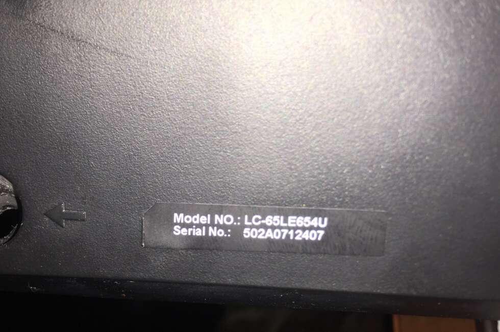 Sharp LC-65LE654U Repair