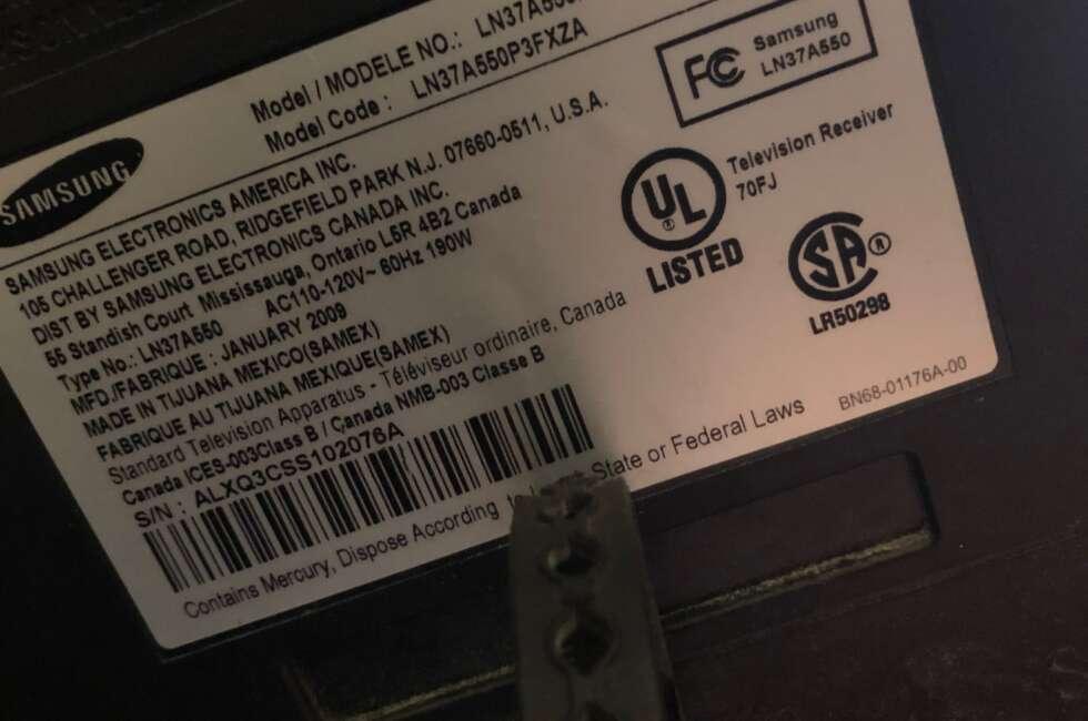 samsung tv repair ln37a550p3fxza