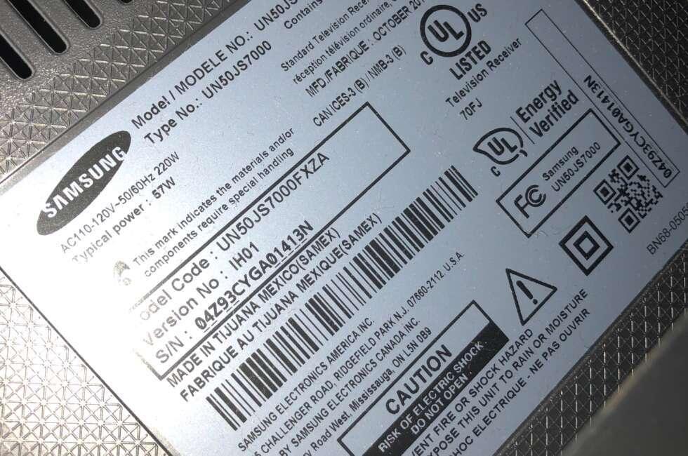 tv repair samsung un50js7000fxza