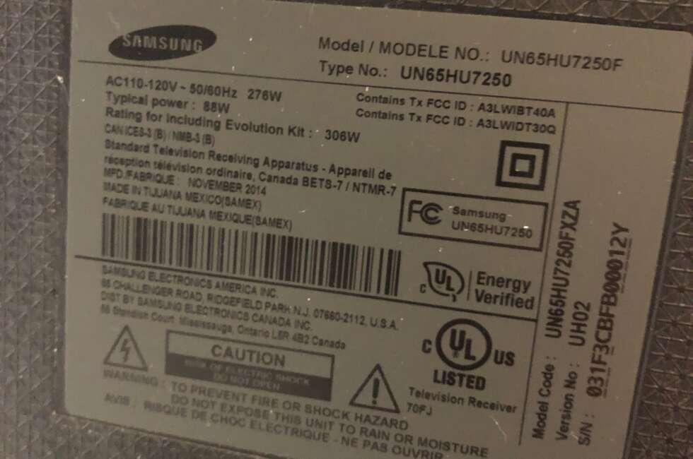 tv repair samsung un65hu7250fxza