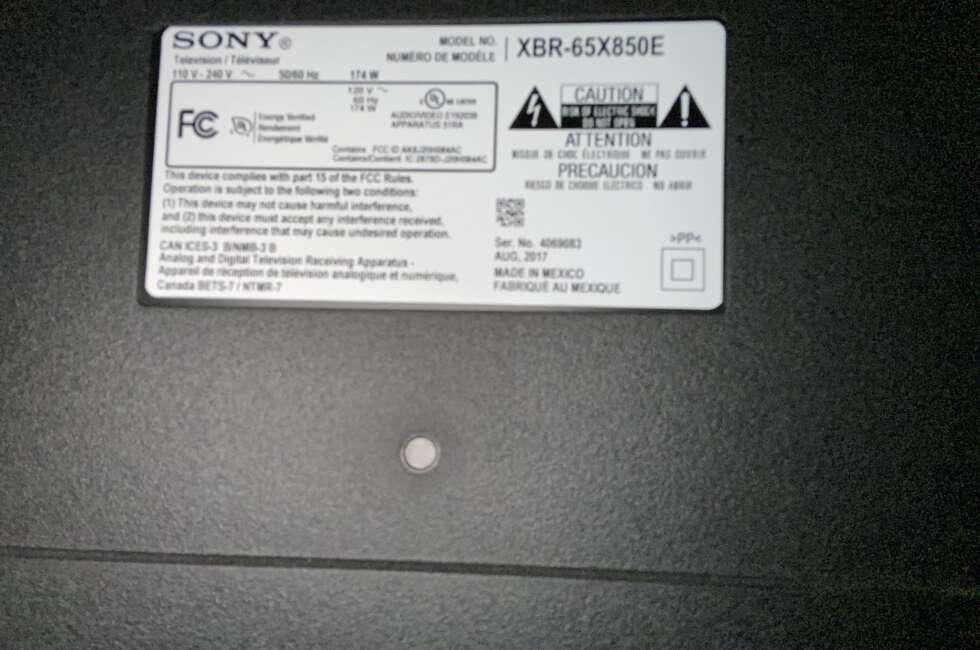 Sony XBR-65x850e Repair