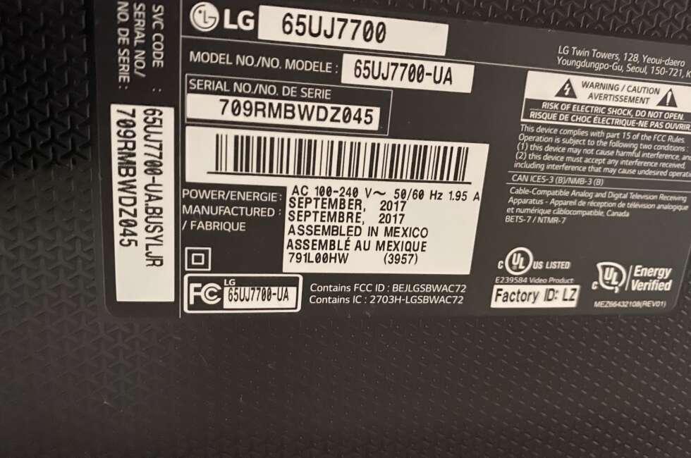 LG-65UJ7700-UA tv repair